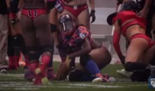 Lingerie Football League Player Tells Her Opponent To 'Suck Her D*ck' (Video)
