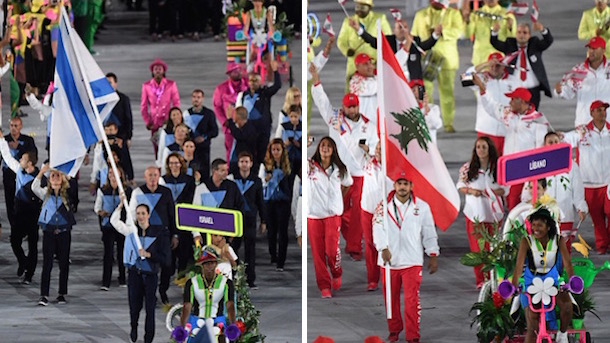 tensions flare between athletes from lebanon and israel at olympics