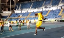 Watch: Usain Bolt Throws Javelin in Olympic Stadium After Everyone Has Gone Home (Video)