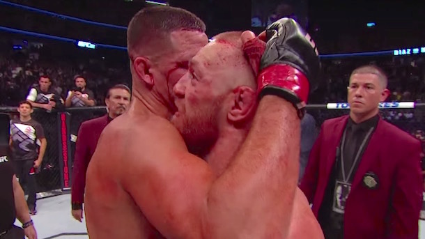 what conor mcgregor said to nate diaz after their fight
