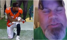Fan Calls Broncos' LB Brandon Marshall a B*tch & Overpaid American For Kneeling During Anthem (Video)