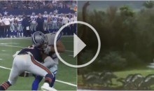 Dallas Cowboys WR Cole Beasley Gets Knocked Back in Time in Incredible Edit (Video)
