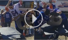 Buffalo Bills Fans Complete 'Dudley Boyz 3D' Finishing Move Through a Table (Video)