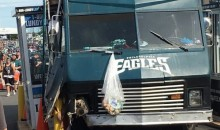 Drunk Philadelphia Eagles Fan Crashes Tailgating RV Into Ticket Booth; Eagles Fans Start Looting (Video)