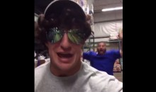 Why Was Gronk Wearing a Goofy Disguise to Go Grocery Shopping? (Video)