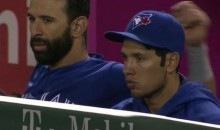 Ryan Goins Drew Hair on His Head for Last Night's Angels-Jays Game (Pics)