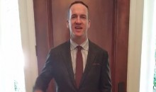 Peyton Manning Is in China, Sledding Down the Great Wall (Video)
