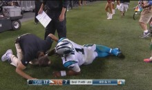 Panthers QB Cam Newton Hurt After Sack By DeMarcus Ware (Video)