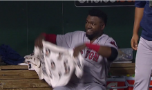 David Ortiz Farts In The Red Sox Dugout, Fans it So Everyone Smells It (Video)