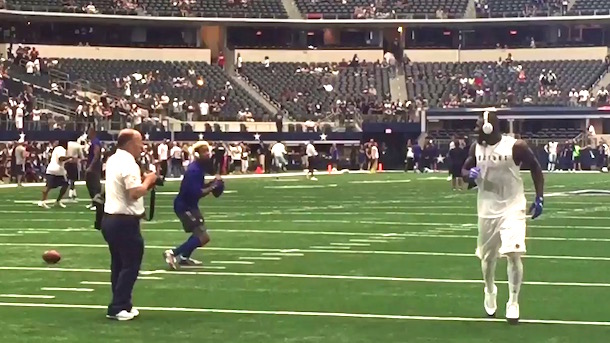 Dez Bryant And Odell Beckham Play Catch Total Pro Sports