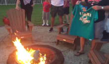 Miami Dolphins Fans Burn Team Shirts Over Players' National Anthem Protest (Video)