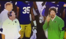"Brian Kelly to the Defensive Coordinator: ""What The F*ck Are You Doing?"" (Video)"