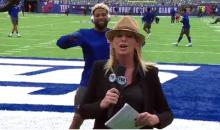 Odell Beckham Videobomb & Twerks Behind Fox Sports Laura Okmin (Video)