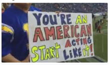 Chargers Fan & US Combat Vet Has A Message For Colin Kaepernick (Video)