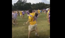 LSU Tigers Fan Knocks Out Another LSU Fan With One Punch (Video)