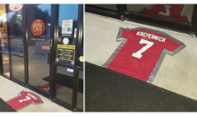 Cigar Lounge in Houston Uses Colin Kaepernick's Jersey as Doormat