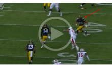 Iowa Player Ejected Immediately After Extremely Violent Helmet-To-Helmet Hit (Video)