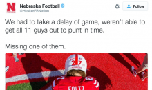 Nebraska Purposely Sends Out Punter-less Punt Team To Honor Fallen Teammate (Video)