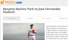 Fan Creates Petition to Rename Marlins Park to Jose Fernandez Stadium