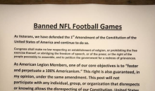 Vets at American Legion Put Out Banned List of Teams That Disrespected The Anthem