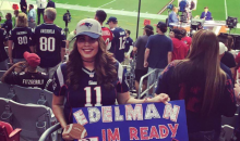 Patriots Fan's Sign Requests that Julian Edelman Spread Something For Her (PICS)