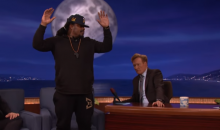 Marshawn Lynch Shows Support For Colin Kaepernick on 'Conan' (Video)