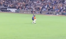 San Francisco Giants OF Angel Pagan Bodyslams Fan Who Ran Out on The Field (Video)