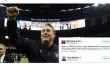 Oakland Raiders Coach Jack Del Rio Trolls ESPN On Twitter After Beating The Saints