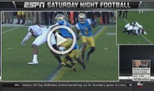 Clean or Dirty? Stanford Player Knocked Out Before He Hits Ground; No Flag (Video)