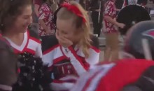 High School Football Team Orchestrates Moving Show of Support Cheerleader Battling Leukemia (Video)