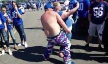 Drunk Husky Giants Fan Dancing to 'My Neck, My Back' & Other Songs in Parking Lot (Video)