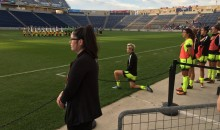 Soccer Star Megan Rapinoe Kneels During The National Anthem in Support of Kaepernick & His Message
