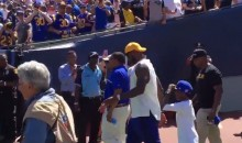 "L.A. Rams Fans Chant ""KOBE"" at LeBron as He Enters Stadium (Video)"