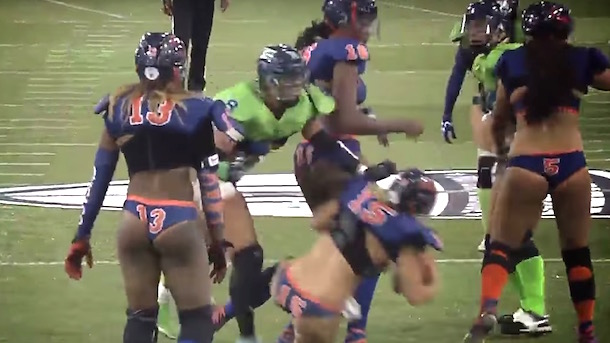 lfl-player-steamrolls-quarterback-taking-knee-in-victory-formation