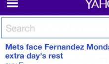 Yahoo's Front Page Says Jose Fernandez is Starting Tonight After Marlins Gave Him Day Off For Rest