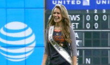 Miss Texas Channels Her Inner 50 Cent for Ceremonial First Pitch at Astros Game (Video)