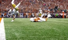 Notre Dame WR Equanimeous St. Brown Flips into The End Zone For the TD (Video)
