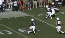 Penn State's 250+ Pound Kicker Joey Julius LEVELS Kick Returner With Monster Hit (Video)