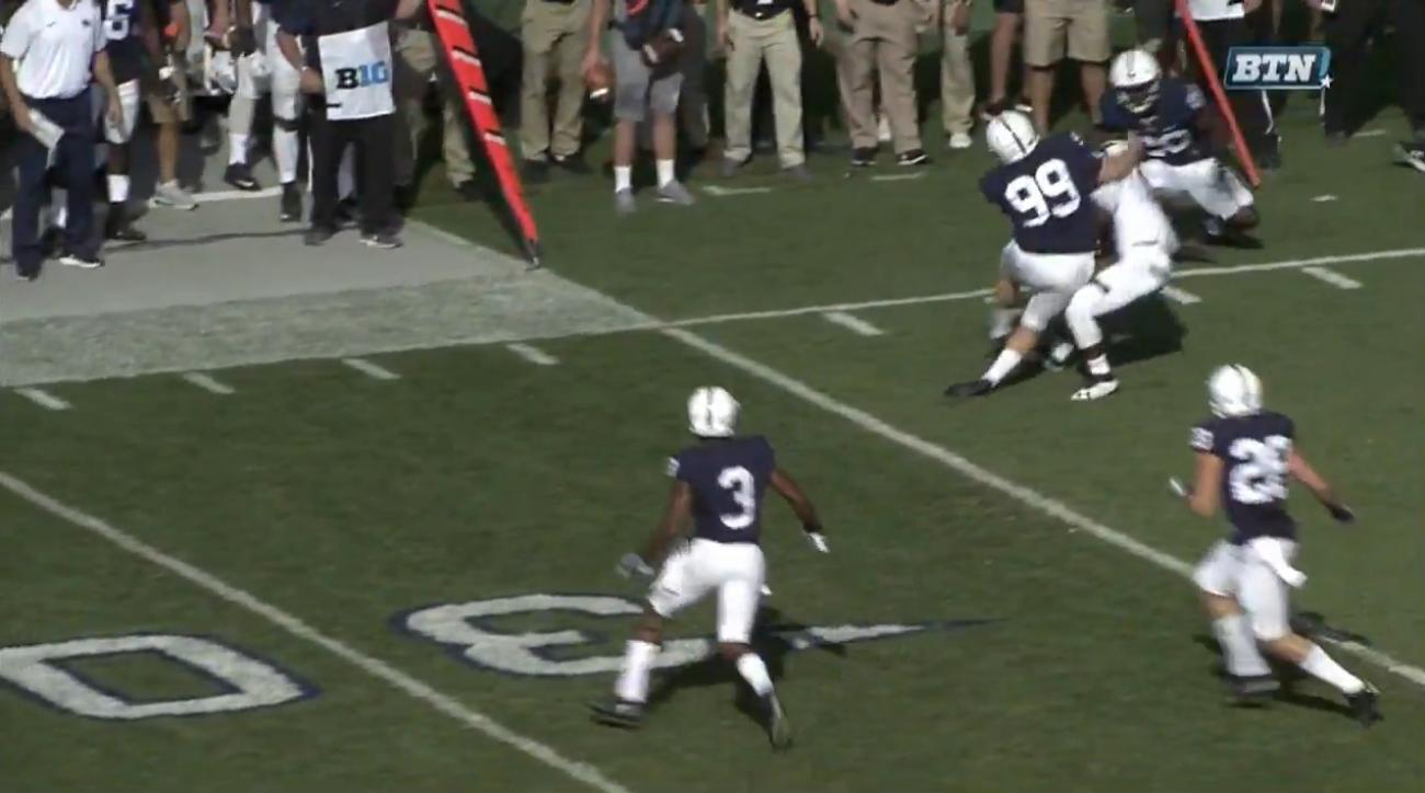 Penn State's 250+ Pound Kicker Joey Julius LEVELS Kick