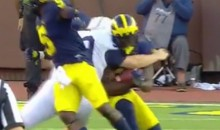 Penn State's Husky Kicker With the Clothesline From Hell Tackle (Video)