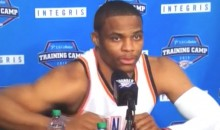 Westbrook Denies Him & Durant Are Still Cool Because They Haven't Spoken Since He Left (Video)