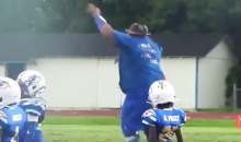 Watch This Coach Get Extremely Funky During His Pee-Wee Team's Game (Video)