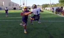 West Virginia Freshman Makes RIDICULOUS Reach-Around One-Handed Catch (Video)