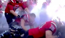 Western Kentucky Players Trip and Fall All Over Each Other During Dramatic Field Entrance (Videos)