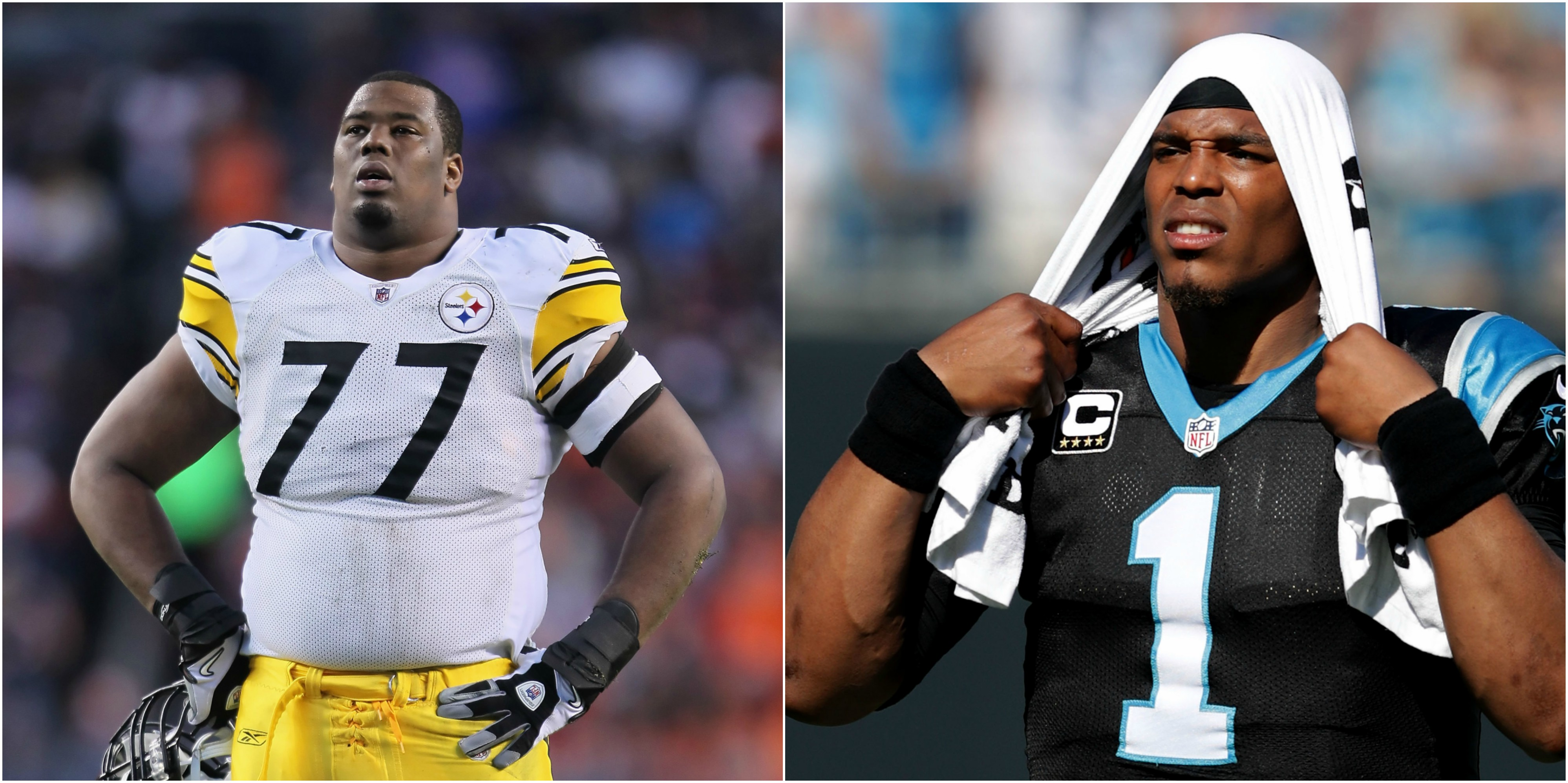 Steelers RT Marcus Gilbert to Cam Newton Don t Be Out There If