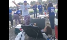 Jets Fan Wanted To Be Chokeslammed Through Table By Bills Mafia Because It Was Her B-day (Video)