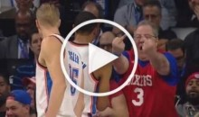 Philadelphia 76ers Fan Says F*ck You to Russell Westbrook (Video)
