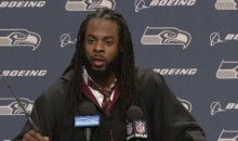 Richard Sherman Showed Up To a Press Conference in a Full Harry Potter Costume (Video)