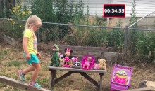 Dad Makes Daughter Her Very Own 'American Ninja Warrior' Course in Their Backyard (Video)