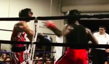 This Boxer Connects on Not One, but Two Knockout Punches Before His Opponent Collapses (Video)